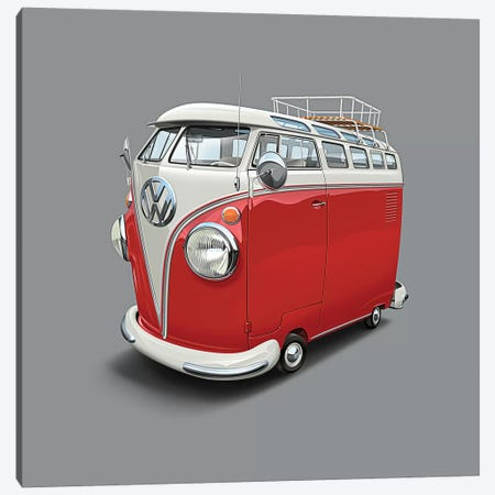 Volkswagen Van Canvas Print #DNM30} by Dean MacAdam Canvas Artwork