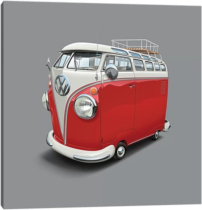 Volkswagen Van Canvas Art Print