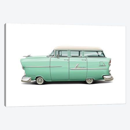 1955 Chevrolet Belair Wagon Canvas Print #DNM32} by Dean MacAdam Canvas Wall Art