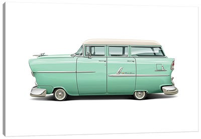 1955 Chevrolet Belair Wagon Canvas Art Print