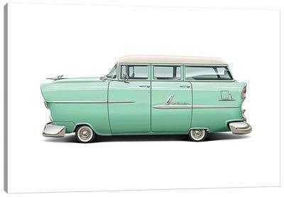 1955 Chevrolet Belair Wagon Canvas Art Print