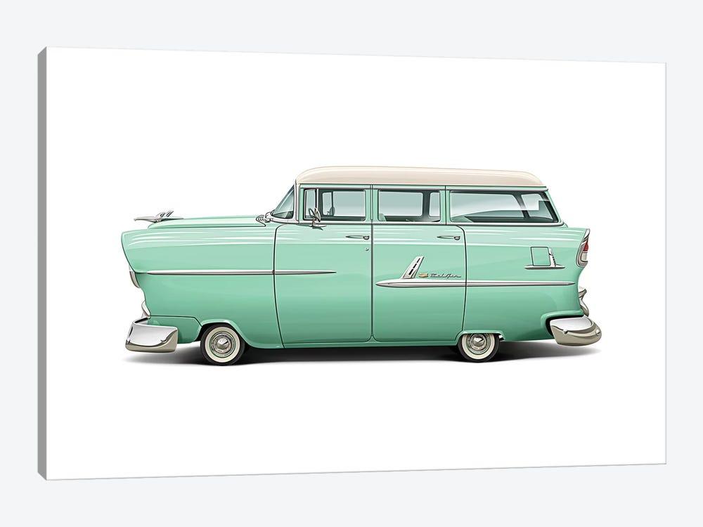 1955 Chevrolet Belair Wagon by Dean MacAdam 1-piece Canvas Art