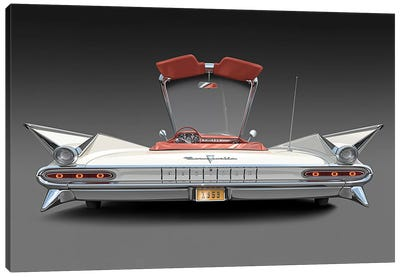 1959 Pontiac Bonneville Canvas Art Print