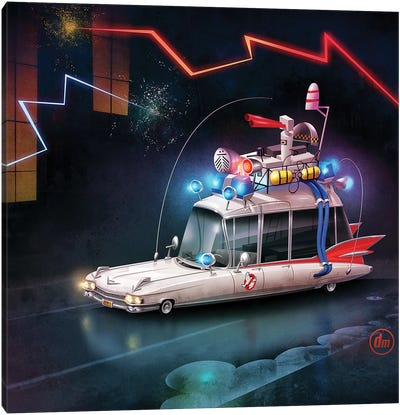 Ghostbusters Car Canvas Art Print