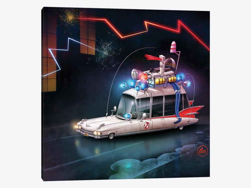 Ghostbusters Car by Dean MacAdam 1-piece Canvas Print