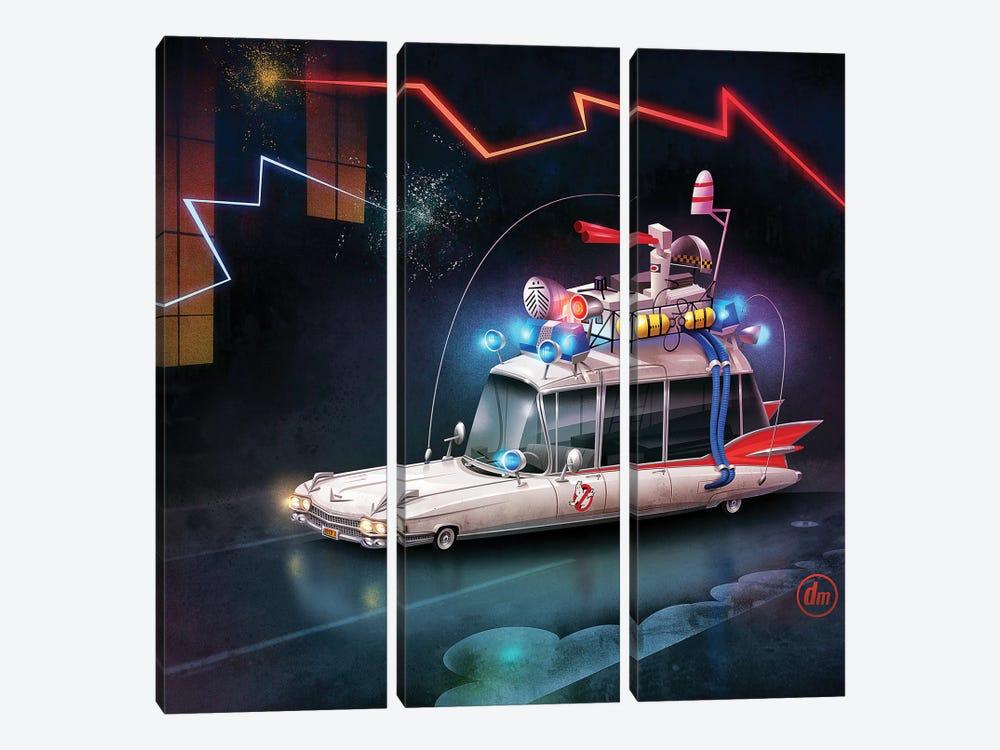 Ghostbusters Car by Dean MacAdam 3-piece Canvas Print