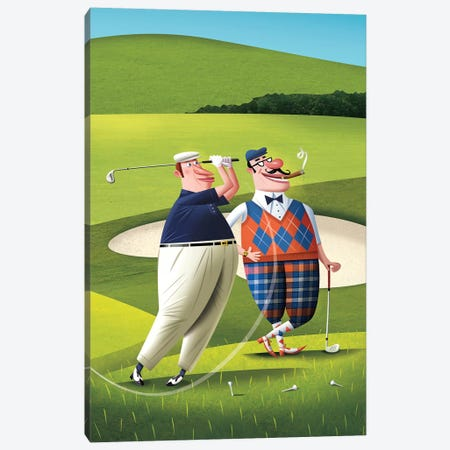 Golfers Canvas Print #DNM7} by Dean MacAdam Canvas Art