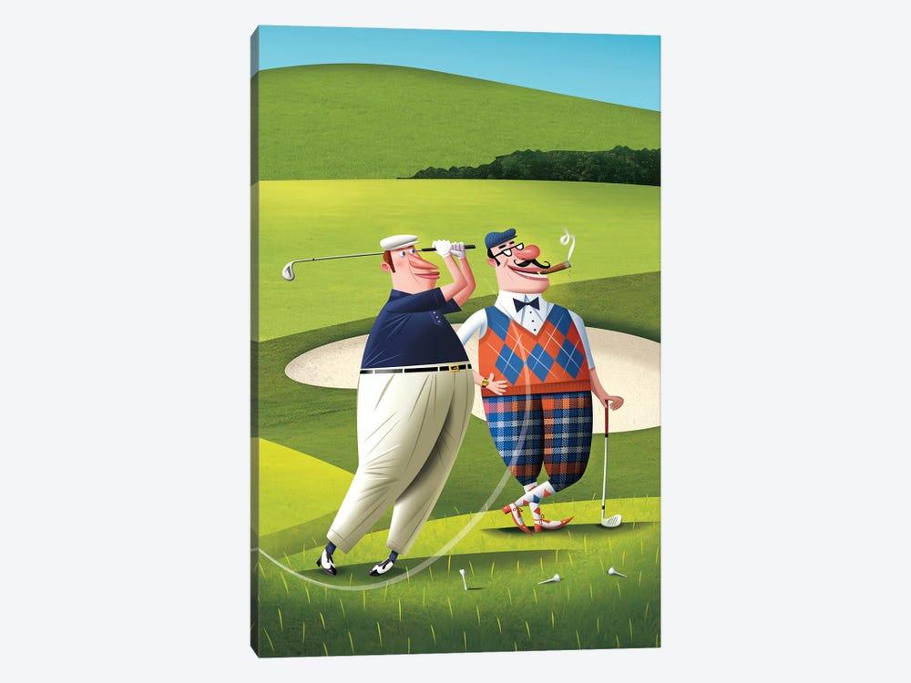Golfers by Dean MacAdam 1-piece Canvas Art