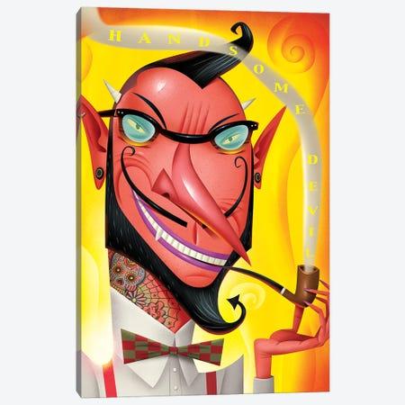 Hipster Devil Canvas Print #DNM8} by Dean MacAdam Art Print