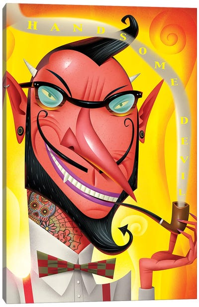 Hipster Devil Canvas Art Print