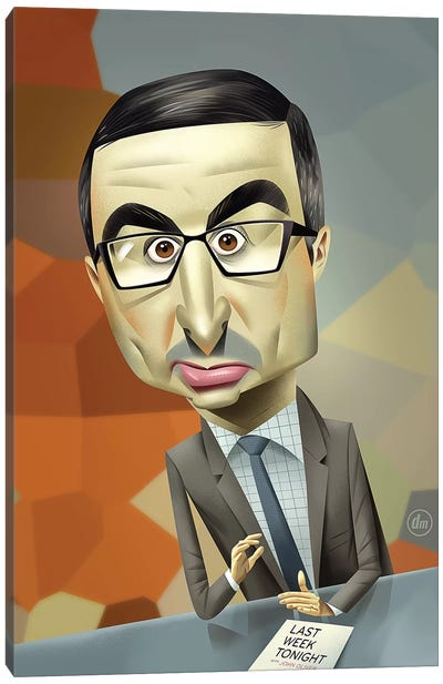John Oliver Canvas Art Print