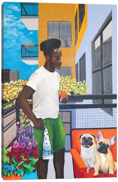 Balcony Boys Canvas Art Print