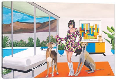 Debbie Does Disco Canvas Art Print