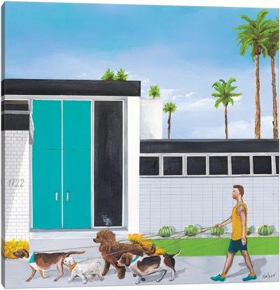 Dog Walker Canvas Art Print