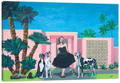 Georgia In Her Little Black Dress Canvas Art Print