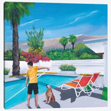 Pool Boy Canvas Print #DNN23} by Dan Nelson Canvas Artwork
