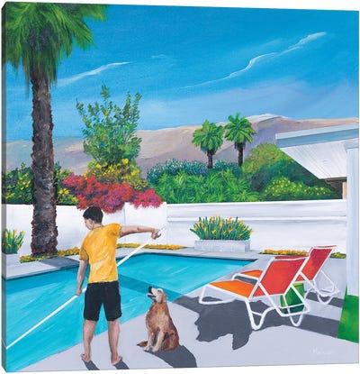 Pool Boy Canvas Art Print