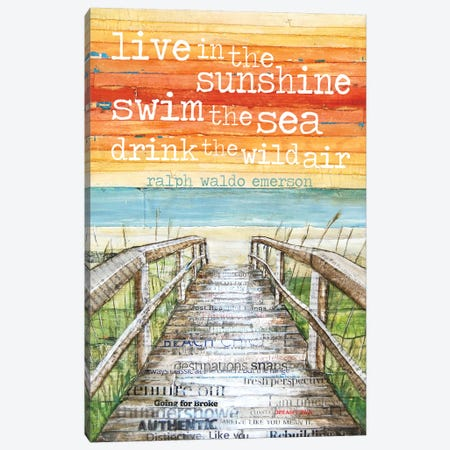 Live N The Sunshine Canvas Print #DNP34} by Danny Phillips Canvas Art