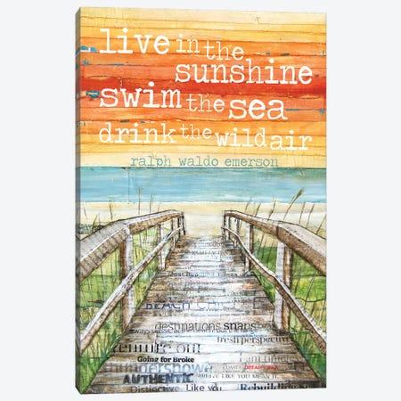 Live N The Sunshine Canvas Print #DNP34} by Danny Phillips Canvas Art