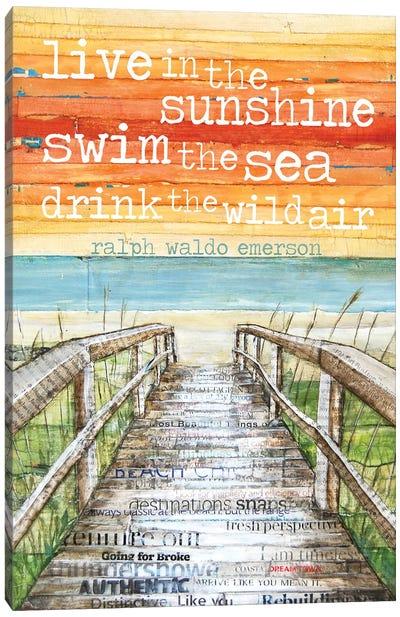 Live N The Sunshine Canvas Art Print