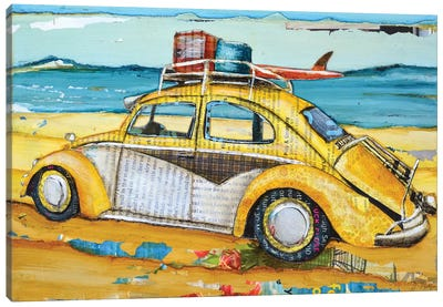 Love Buggy Canvas Art Print
