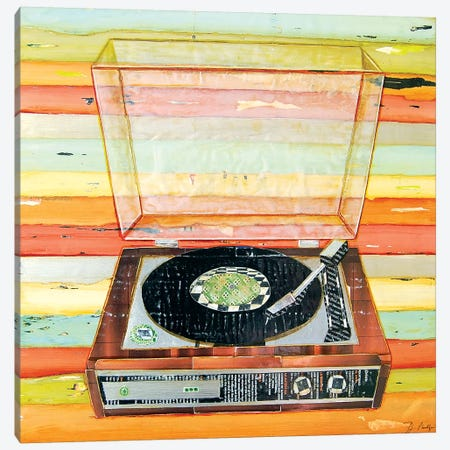 Put A Needle On The Record Canvas Print #DNP53} by Danny Phillips Canvas Art Print