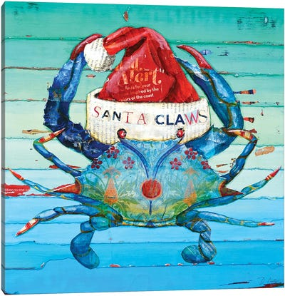 Santa Claws Canvas Art Print