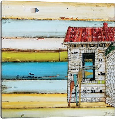 Southern Maine Beach Shack Canvas Art Print