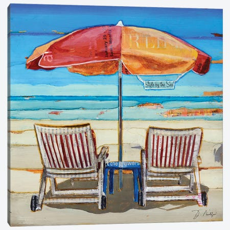Stylin By The Sea Canvas Print #DNP72} by Danny Phillips Canvas Art Print