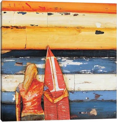 Summer Days 1980s Canvas Art Print