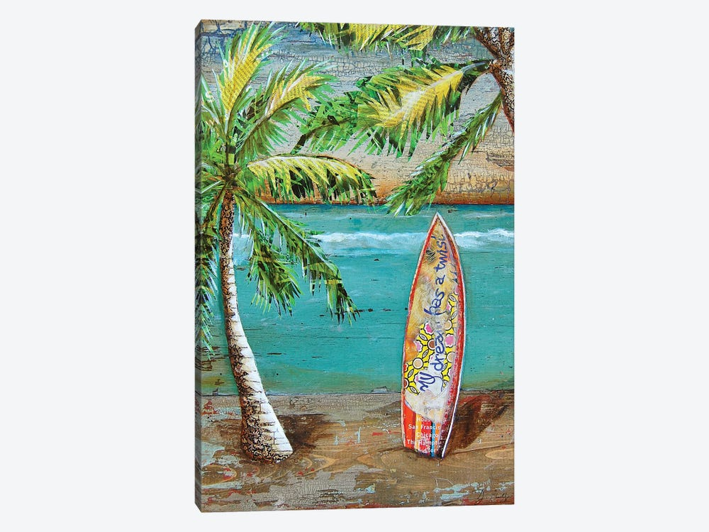 Surfs Up by Danny Phillips 1-piece Canvas Artwork