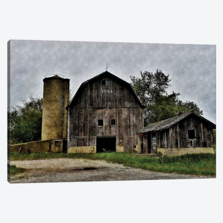 The Old Barn & Silo Canvas Print #DNS1} by Denise Romita Canvas Art