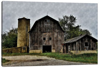 The Old Barn & Silo Canvas Art Print