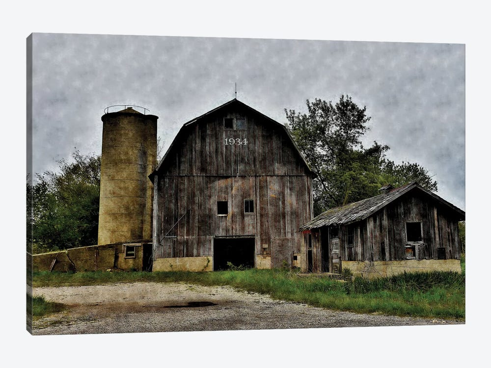 The Old Barn & Silo 1-piece Canvas Wall Art