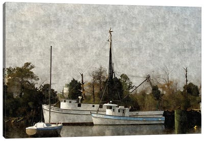 Shipyard Canvas Art Print
