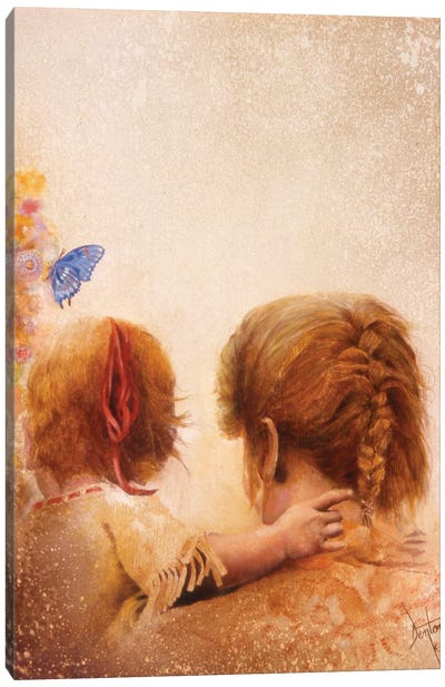 The Blue Butterfly Canvas Art Print