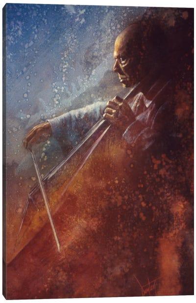 The Cello Player Canvas Art Print
