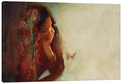The Moth Canvas Art Print