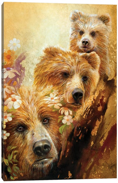 The Three Bears Canvas Art Print