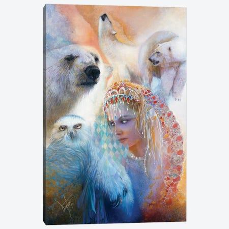 Aurora Borealis Canvas Print #DNT12} by Denton Lund Art Print