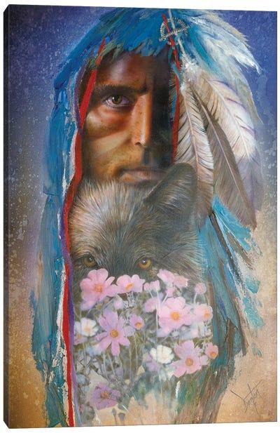 Blue Wolf Canvas Art Print