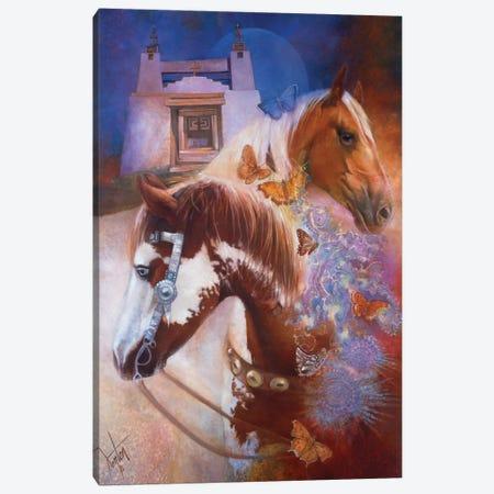 Caballos Y Mariposas (Horses & Butterflies) Canvas Print #DNT21} by Denton Lund Canvas Art