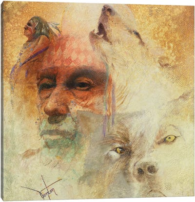 Call Of The White Wolf Canvas Art Print