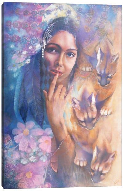 Cougar Moon Canvas Art Print
