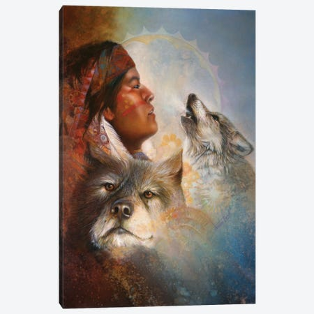 Cry Of The Wolves Canvas Print #DNT32} by Denton Lund Art Print