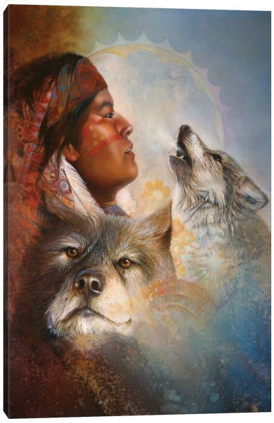 Cry Of The Wolves Canvas Art Print
