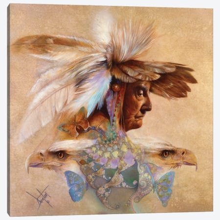 Feathers & Wings Canvas Print #DNT43} by Denton Lund Canvas Art