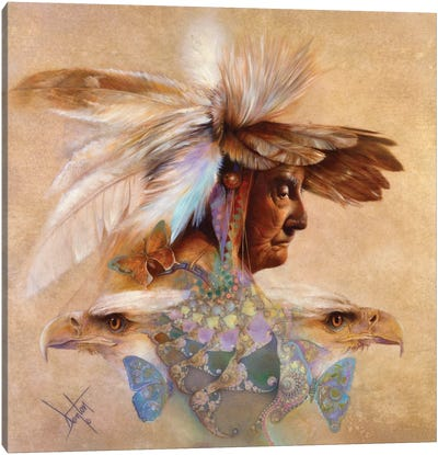 Feathers & Wings Canvas Art Print