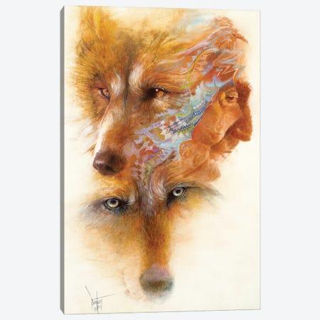 Grandfather Wolf Canvas Print #DNT50} by Denton Lund Art Print