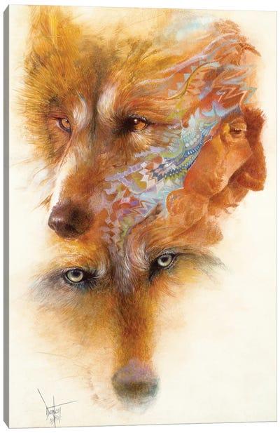 Grandfather Wolf Canvas Art Print
